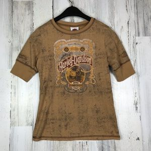 Harley Davidson distressed T-shirt size small